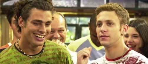 Cauã e Serginho atuando em Malhação. (Reprodução/TV Globo)