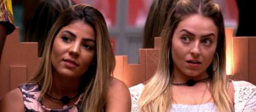 Paula e Hariany discutiram. (Reprodução/TV Globo)
