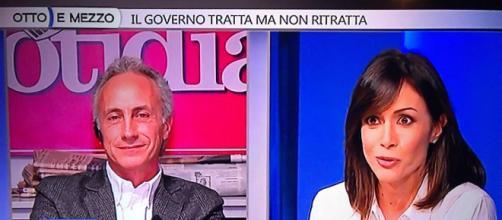 Scontro tra Marco Travaglio e Mara Carfagna a Otto e Mezzo