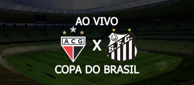 Atlético-GO x Santos se enfrentam pela Copa do Brasil. (Foto: Montagem/ Diogo Marcondes)
