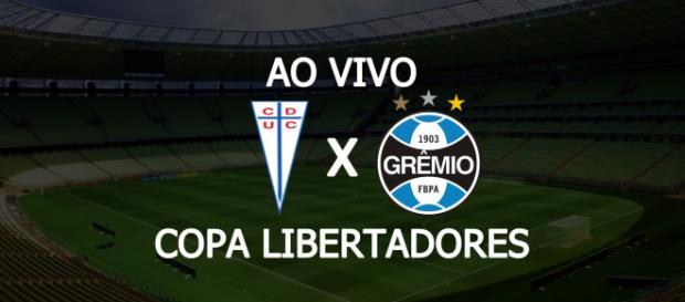 Universidad Católica x Grêmio ao vivo. (Foto: Montagem/ Diogo Marcondes)