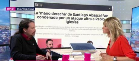 Pablo Iglesias, este viernes en 'Espejo Público'. ATRESMEDIA