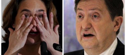 Ada Colau y Jiménez Losantos en imagen