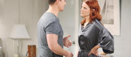 Beautiful 6-7 aprile: Quinn becca Wyatt e Sally baciarsi
