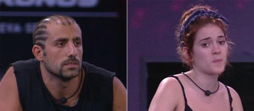 Mostrando enorme resistência, ex-participantes Kaysar e Ana Clara venceram o cansaço em busca de liderança. (Reprodução/ TV Globo)