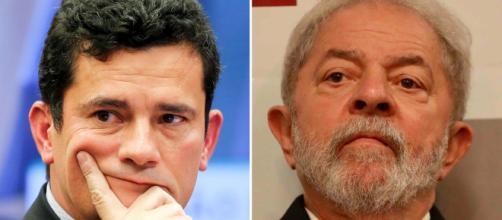 Perfil de Lula tira sarro de postagem de Moro no Twitter. (Arquivo Blasting News)