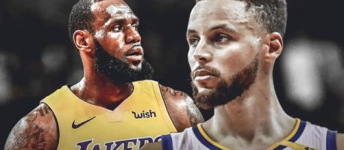 "Stephen Curry talked about how the playoffs will be ""different"" without LeBron. [Image via ClutchPoints/YouTube]"