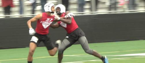 The Huskers could have a shot with Kris Abrams-Draine. [Source: Rivals Camp Series/YouTube]