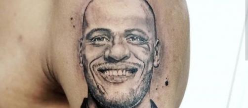 Torcedor tatuou rosto de Patric no braço. (Reprodução/Arquivo Pessoal)