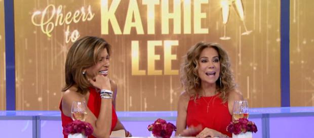 Kathie Lee Gifford treats fans to fun and gets sweetest salute from her kids on final Friday as Today co-host. [Image source:TODAY-YouTube]