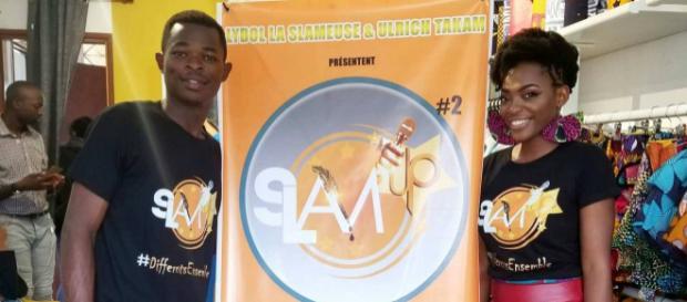 Les artistes Camerounais Ulrich Takam et Lydol La Slameuse (c) Colbie Medjom