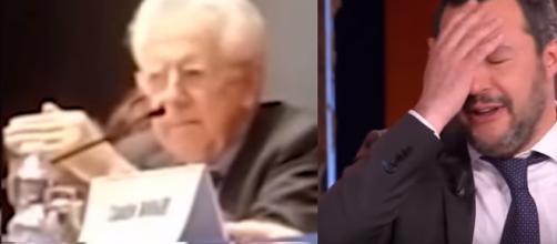 Salvini pubblica un video di Monti incerto sullo spread nel 2011