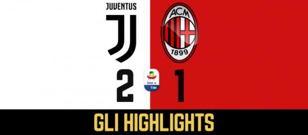 31ma di Serie A: Juventus - Milan 2-1 (39' Piatek, 60' rigore Dybala, 84' Kean)
