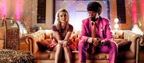 Brie Larson e Samuel L. Jackson em cena do filme Loja de Unicórnios (Divulgação/Lampadanerd)