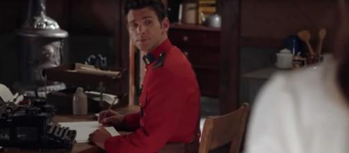 New mountie Nathan Grant (Kevin McGarry) will still meet Elizabeth and When Calls the Heart fans. [Image source:HallmarkChannel-YouTube]