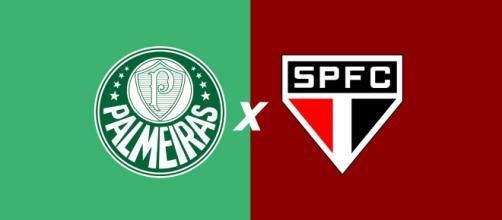 Palmeiras x São Paulo ao vivo (Foto: Montagem/ Diogo Marcondes)
