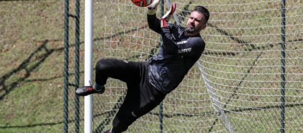Victor chegará a 400 jogos pelo Galo. (Divulgação/ Bruno Cantini/ Atlético-MG)