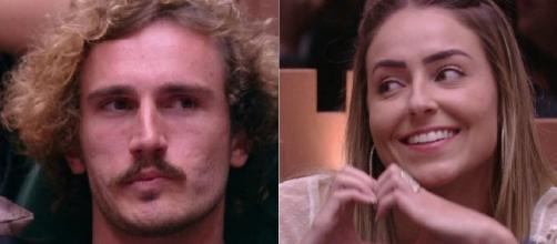 Alan e Paula no BBB19. (Reprodução/Rede Globo)