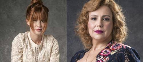 Luz (Marina Ruy Barbosa) e Ondina (Ana Beatriz Nogueira). (Divulgação/Rede Globo)