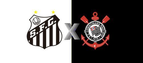 Santos e Corinthians ao vivo na TV fechada. (Fotomontagem/Diogo Marcondes)