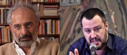 Gad Lerner ignorato alla conferenza stampa di Matteo Salvini e dei sovranisti