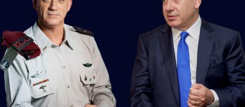 Gantz e Netanyahu, i due candidati premier israeliani.