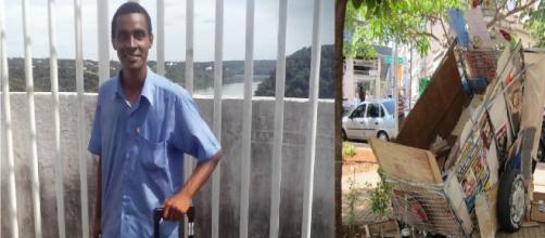 Homem que catava papelão nas ruas consegue doutorado fora do Brasil. (Reprodução/ Arquivo Pessoal)