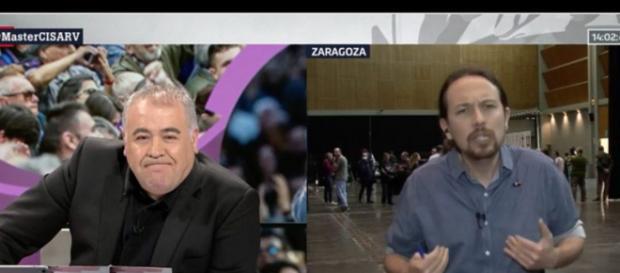 García Ferreras y Pablo Iglesias en imagen