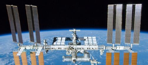 International Space Station after undocking of STS-132. [Image source/ NASA/Crew of STS-132, Wikimedia Commons]