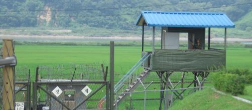 Korea DMZ sentry. [Image source/Wikimedia Commons, Johannes Barre]