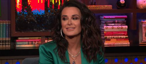 Kyle Richards is seen on 'Watch What Happens Live.' [Photo via Bravo TV]