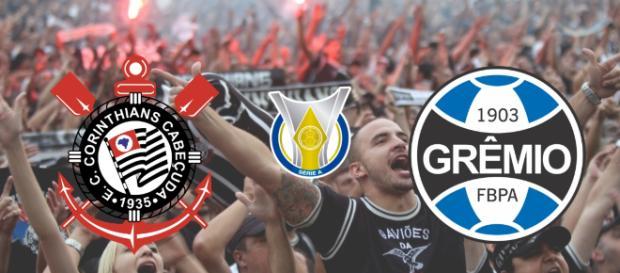 Corinthians x Grêmio terá transmissão exclusiva do Premiere. (Reprodução/ Montagem)