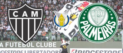 Atlético-MG x Palmeiras: transmissão ao vivo da ESPN, mas sem imagens. (Reprodução/ Montagem)
