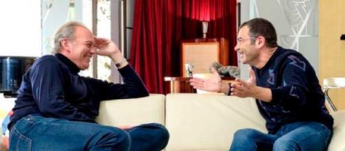 Jorge Javier Vázquez junto a Bertín Osborne durante la entrevista para 'Mi casa es la tuya'