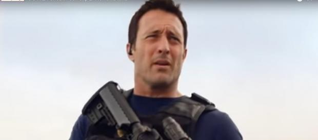 McGarrett (Alex O'Loughlin) makes it in the nick of time to save Tani and Junior on 'Hawaii Five-O.' [Image source:TVPromos-YouTube]