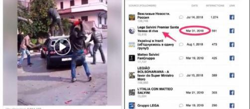 Uno dei contenuti fake cancellati da Facebbok, pagina non ufficiale pro-Lega
