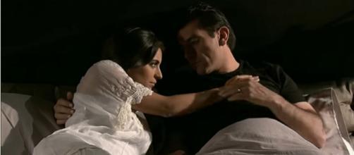 Ana Paula não aceita dormir com Rogério. (Reprodução/Televisa)