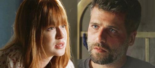 Luz e Gabriel têm briga. (Reprodução/ TV Globo)