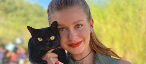 Marina Ruy Barbosa e o gato Lucky. (Reprodução/Instagram/@marinaruybarbosa)