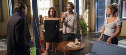 Nicolau, Afrodite, Olavo e Rivalda. (Reprodução/TV Globo)