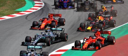 Prima curva del GP di Barcellona