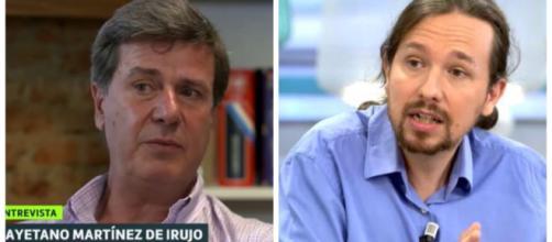 Cayetano Martínez de Irujo y Pablo Iglesias