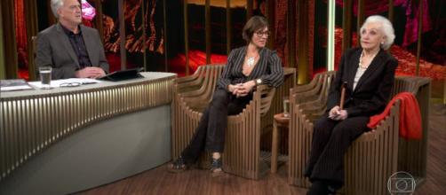 Christiane Tornoli e Monah Delacy desabafam em 'Conversa com Bial'. (Reprodução/Rede Globo)