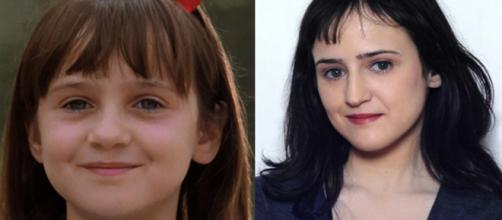 Mara Wilson interpretou a pequena Matilda. (Divulgação/TriStar Pictures/Reprodução/Instagram/@mara_wilsonofficial)