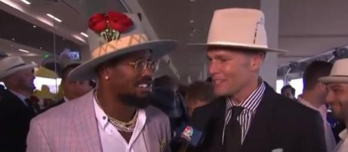 Miller and Brady spent time together at the Kentucky Derby. - [NBC Sports / YouTube screencap]