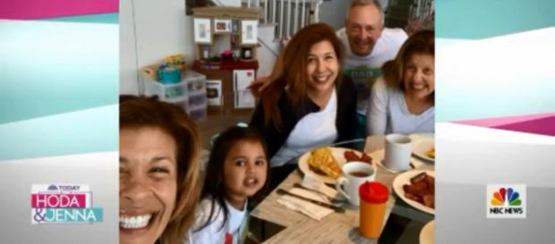 Hoda Kotb called in on Mother's Day with a happy discovery about getting baby Hope to sleep. [Image source: TODAY-YouTube]