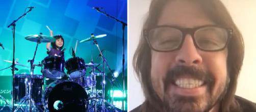 Dave Grohl elogia la bambina giapponese prodigio, giovane batterista