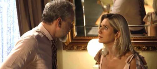 Marilda e Eurico em 'O Sétimo Guardião'. (Reprodução/TV Globo)