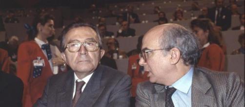 Paolo Cirino Pomicino insieme a Giulio Andreotti ai tempi d'oro della Dc
