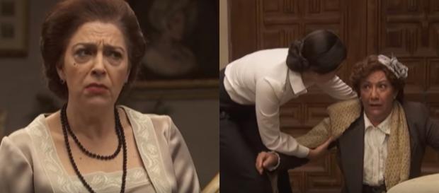 Il Segreto, trame: Dolores sviene dopo aver capito che Donna Francisca non è morta